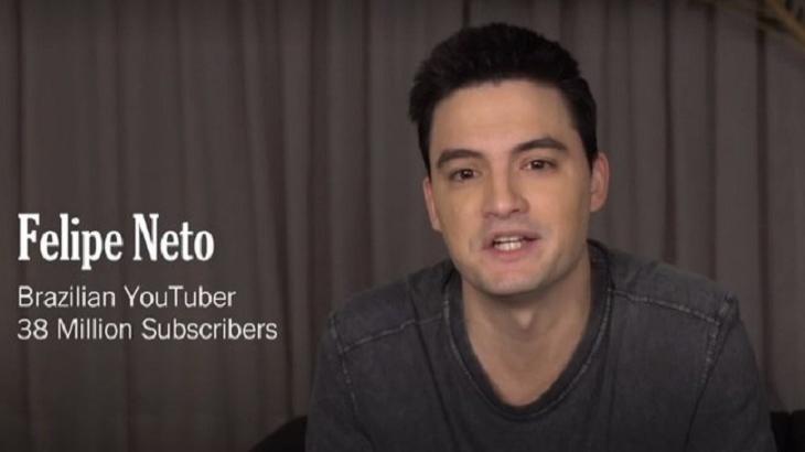 Felipe Neto em vídeo para o The New York Times