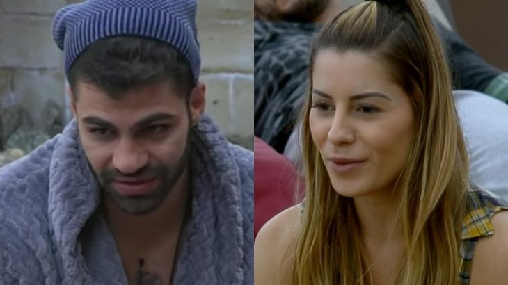 Netto Rodrigues e Aricia Silva no reality show