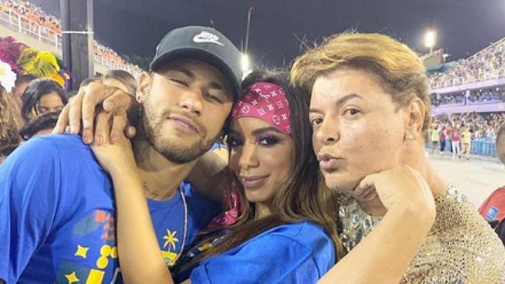Foto entre Neymar, Anitta e David Brazil gerou polêmica - Foto: Reprodução