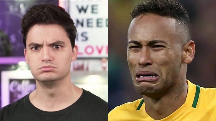 Felipe Neto criticou Neymar - Foto: Montagem