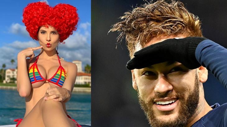 Neymar flertou com modelo - Foto: Montagem