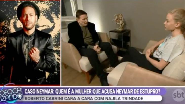 SBT exibiu novos trechos da entrevista de Cabrini com Najila Trindade no