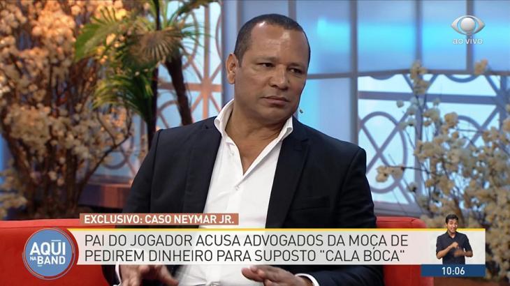 """Com pai de Neymar, """"Aqui na Band"""" bate recorde de audiência nessa segunda"""