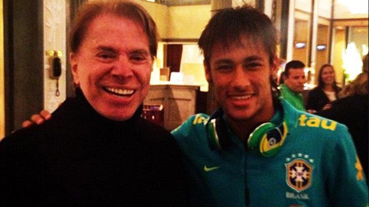 Instituto Neymar Jr. vai leiloar visita ao SBT e encontro com Silvio Santos