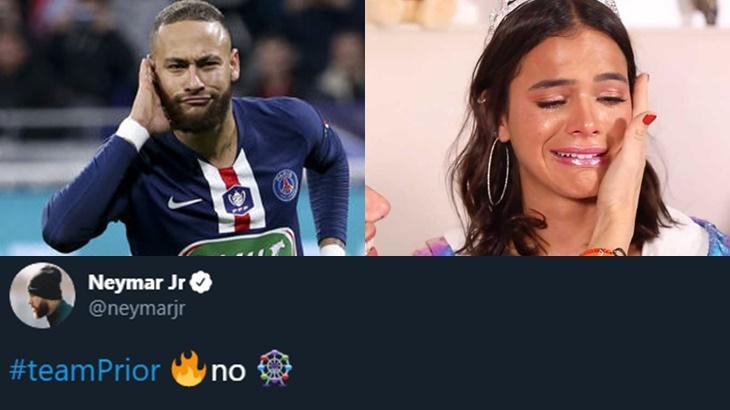 Neymar Jr declarou torcida para Felipe Prior no BBB20 e virou rival de Bruna Marquezine - Foto: Reprodução/Montagem
