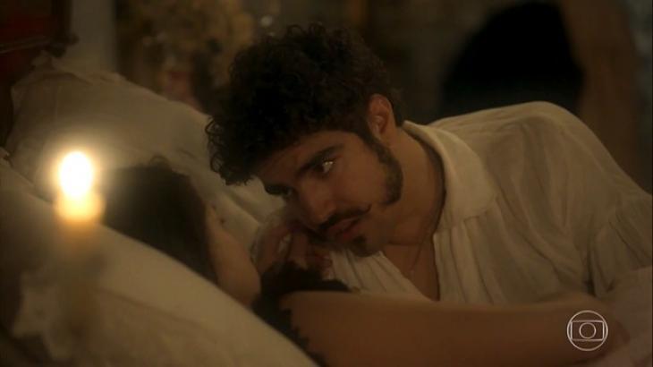 Príncipe regente avisa a Domitila que ela não é a única amante - Divulgação/TV Globo