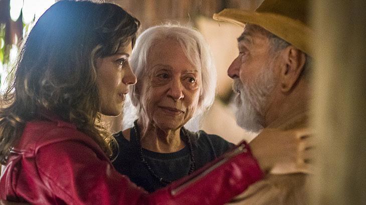 Clara ( Bianca Bin ), Josafá ( Lima Duarte ) e Mercedes ( Fernanda Montenegro)