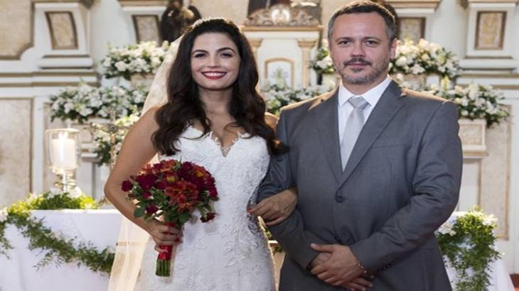 Zuleika e Almeidinha se casam - Divulgação/TV Globo