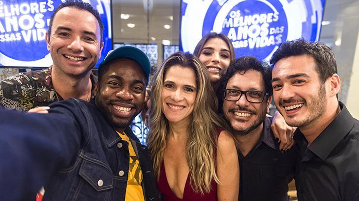 Marco Luque, Lázaro Ramos, Ingrid Guimarães, Rafa Brites, Lúcio Mauro Filho e Marcos Veras