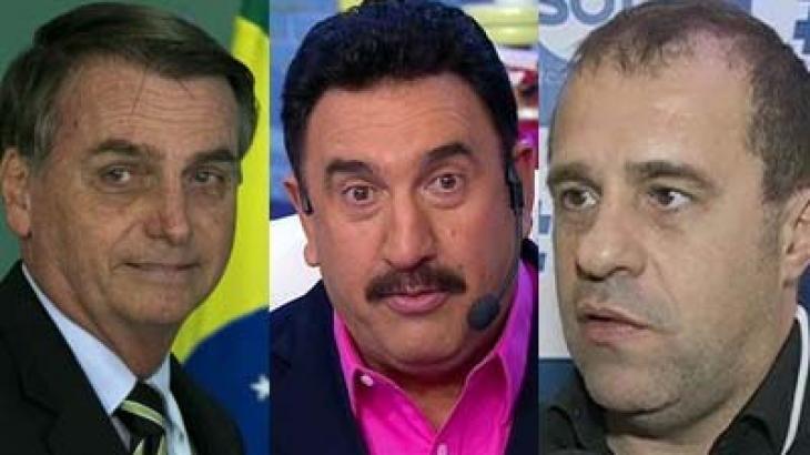 Bolsonaro, Ratinho e Fernando Pelégio: pensamentos parecidos - Foto: Reprodução