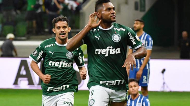 Borja e Gustavo Scarpa foram dois dos autores dos gols do Palmeiras em goleada