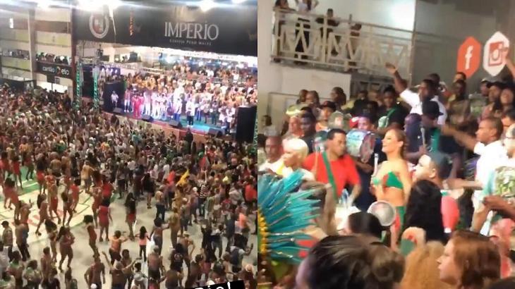 Paolla Oliveira é clicada por suposto namorado caindo no samba