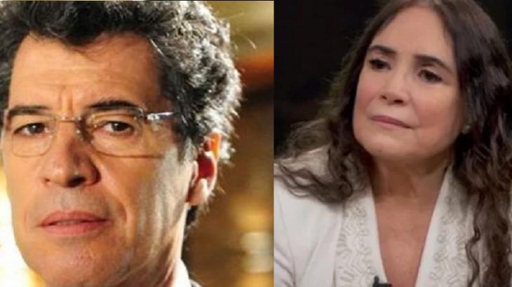 Regina Duarte e Paulo Betti já trabalharam juntos - Foto: Montagem