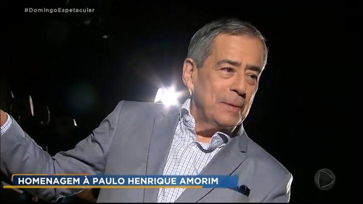 """""""Domingo Espetacular"""" é criticado por homenagem a Paulo Henrique Amorim"""