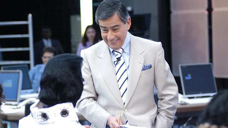Paulo Henrique Amorim sorrindo