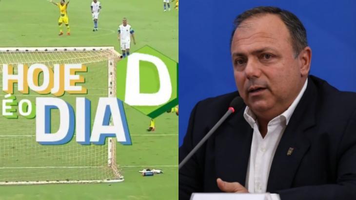 """TV Brasil ironiza fala de Pazuello para anunciar futebol: """"Hoje é o dia D"""""""