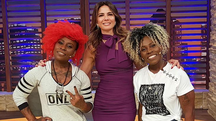Dupla ao lado de Luciana Gimenez em seu programa - Divulgação/RedeTV!