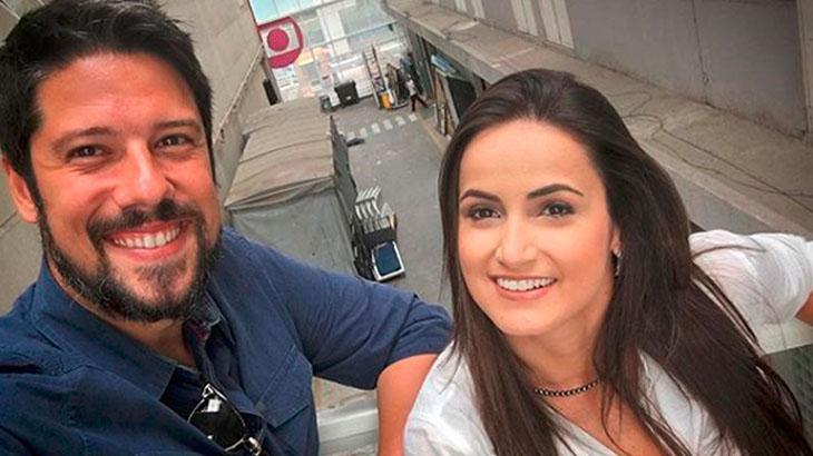 Phelipe Siani e Mari Palma nos Estúdios Globo - Reprodução/Instagram