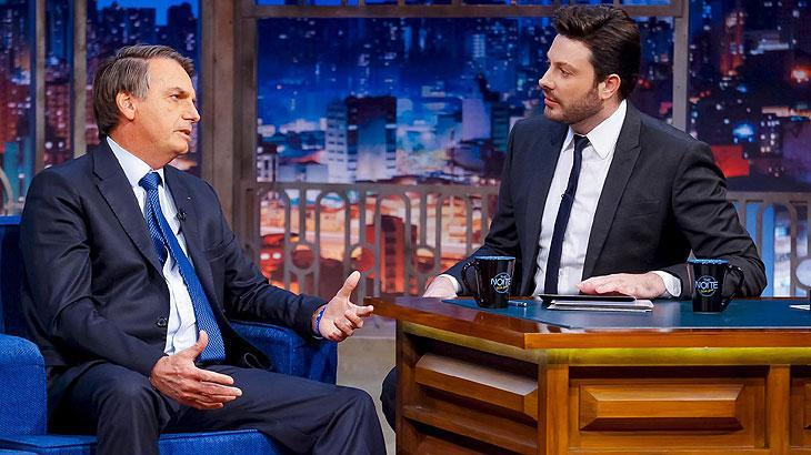 Presidente Jair Bolsonaro no The Noite com Danilo Gentili