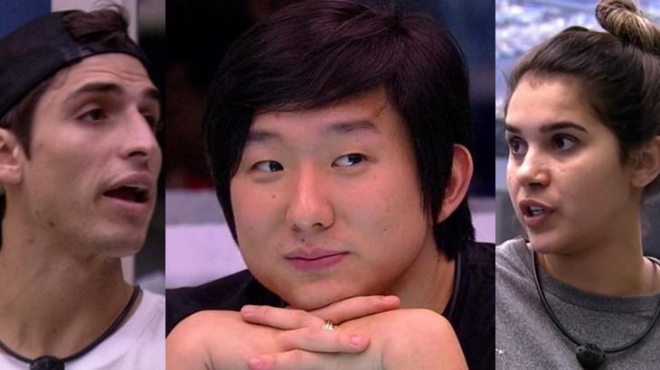 Felipe Prior, Pyong Lee e Gizelly no BBB20