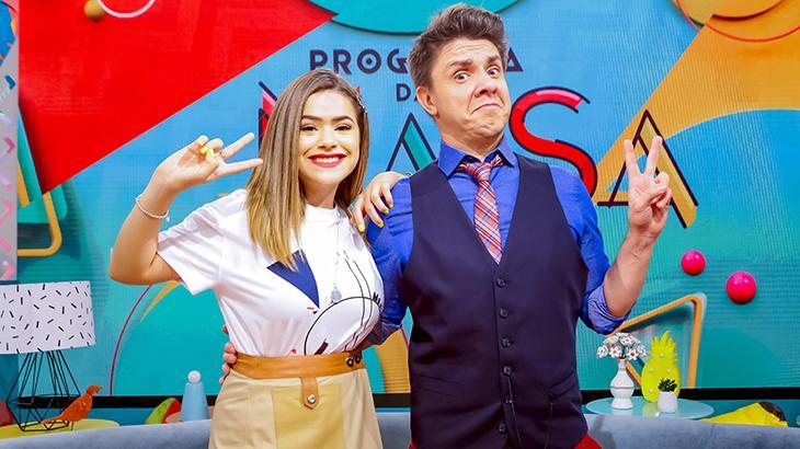 Maisa Silva conta com a ajuda de Oscar Filho na apresentação de seu programa - Fotos: Divulgação/SBT