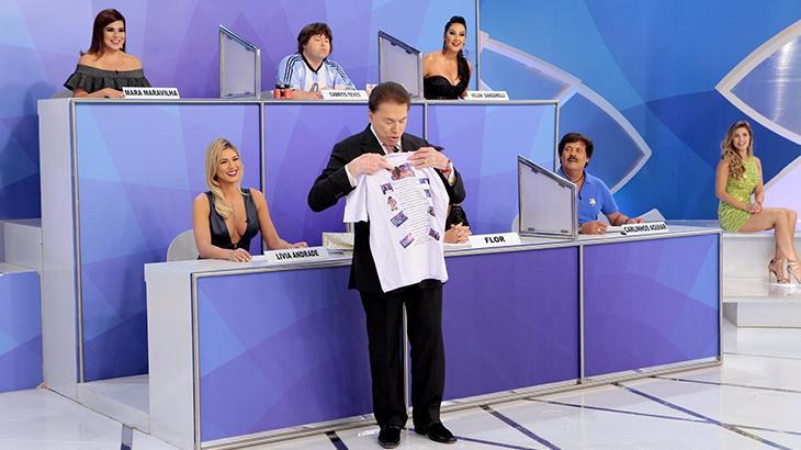 Programa Silvio Santos de domingo, 15/04, recebe Carlos Nascimento