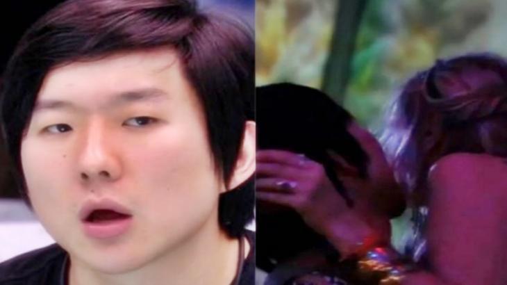 O hipnólogo tentou beijar Marcela e apertou o bumbum de Flayslane durante festa no BBB20
