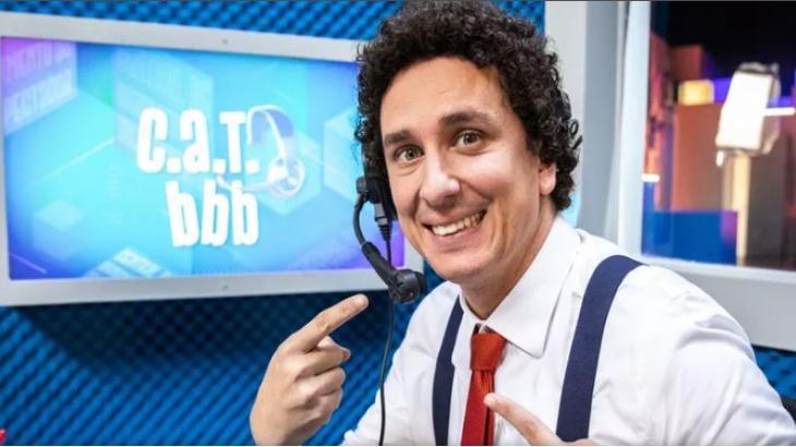 Rafael Portugal está no estúdio do CAT BBB