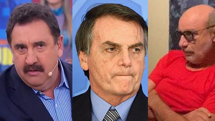 O apresentador Ratinho e o presidente Jair Bolsonaro