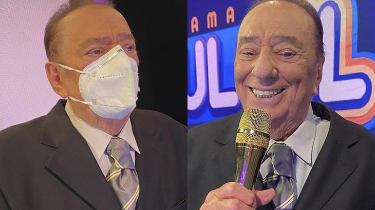Raul Gil grava pela primeira vez após quebrar costelas