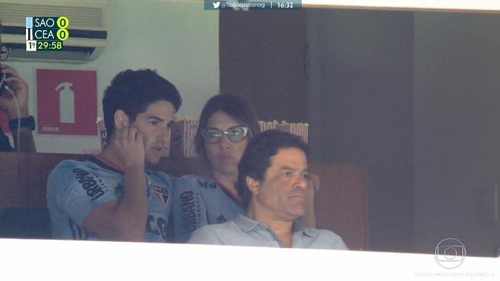 Rebeca Abravanel ao lado de Alexandre Pato - Foto: Reprodução/Globo