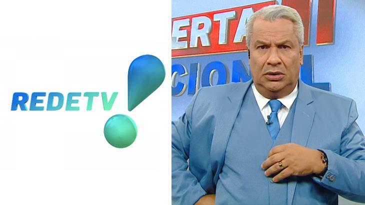 Logo RedeTV!; Sikêra Jr durante o Alerta Nacional