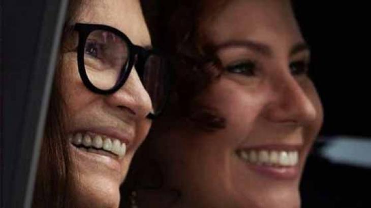 Regina e Carla Zambelli: as duas se aproximaram - Reprodução/Instagram