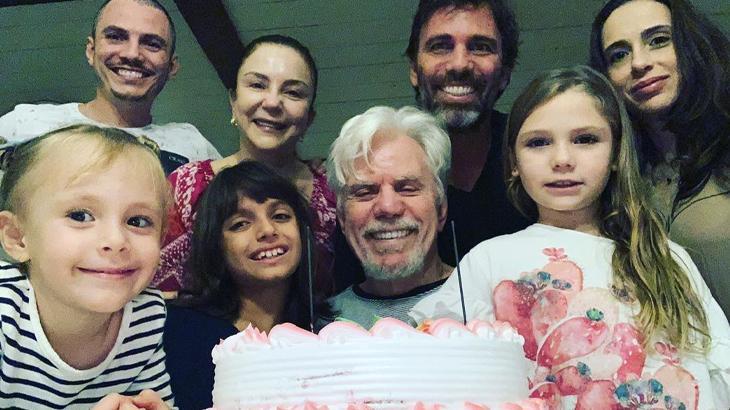 Ator celebrou nova idade junto da família - Reprodução/Instagram