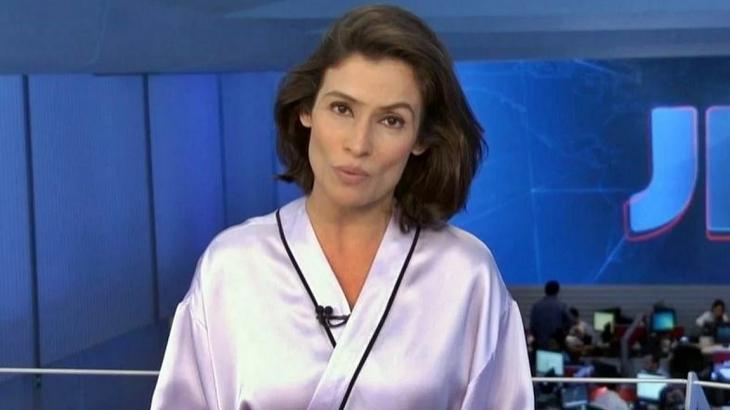 Renata Vasconcellos no Jornal Nacional - Foto: Reprodução/Globo