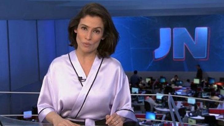 """Com Renata Vasconcellos, """"JN"""" cresce pelo quinto ano e atinge melhor Ibope em 11 anos"""