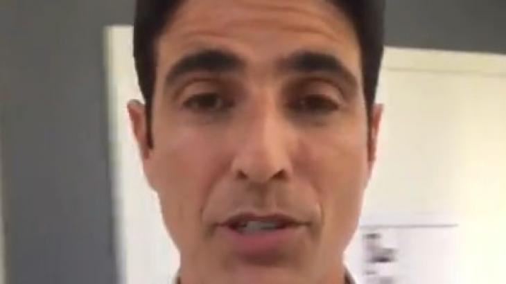 Reynaldo Gianecchini teve pneu furado - Reprodução/Instagram