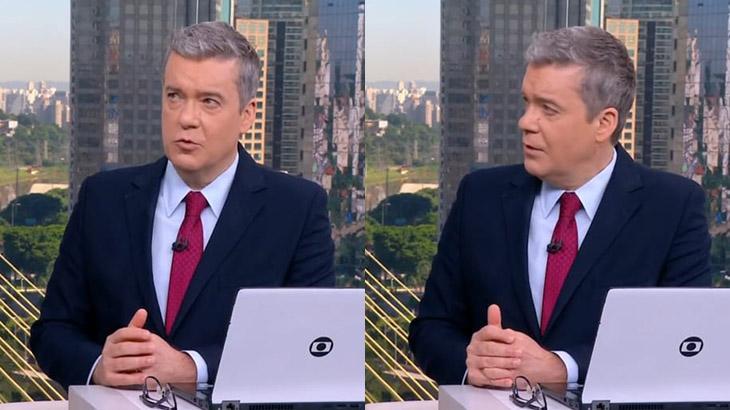 """Roberto Kovalick fica constrangido com """"gemidão"""" no estúdio da Globo"""