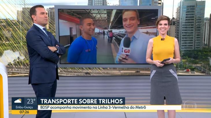 Rodrigo Bocardi conversou com jovem - Foto: Reprodução/Globo