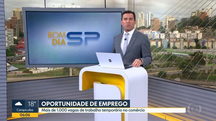 Rodrigo Bocardi no Bom Dia SP - Foto: Reprodução/Globo