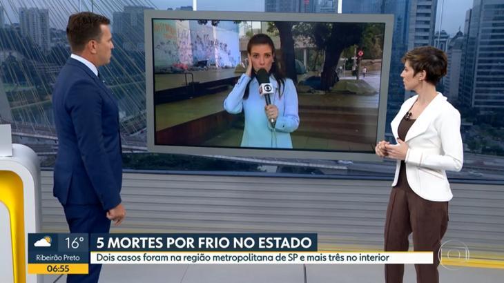 Rodrigo Bocardi conversou com Sabina Simonato - Foto: Reprodução/Globo