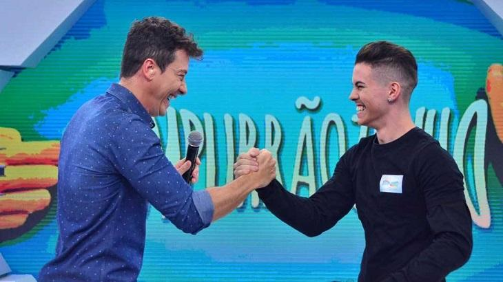 Rodrigo Faro e Biel no Hora do Faro