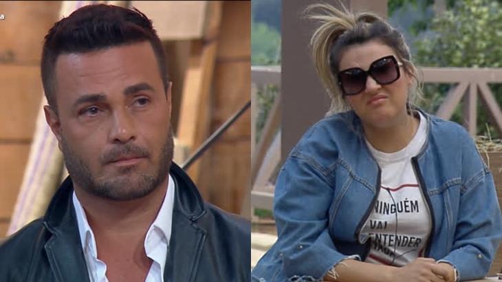 Rodrigo e Thayse tiveram desentendimento no reality show A Fazenda 2019 (Reprodução/Montagem)