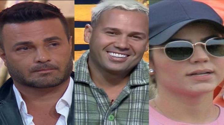 Rodrigo Phavanello, Viny Vieira e Hariany Almeida foram indicados na roça surpresa do reality show A Fazenda 2019 (Reprodução/Montagem)