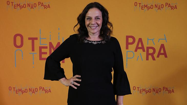Rosi Campos na festa de lançamento de