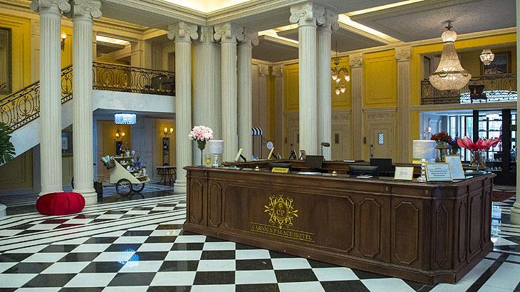 Imponência na cenografia e na produção de arte Hotel Carioca Palace