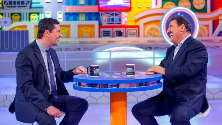 Sérgio Moro conversando com Ratinho - Foto: Reprodução/Twitter