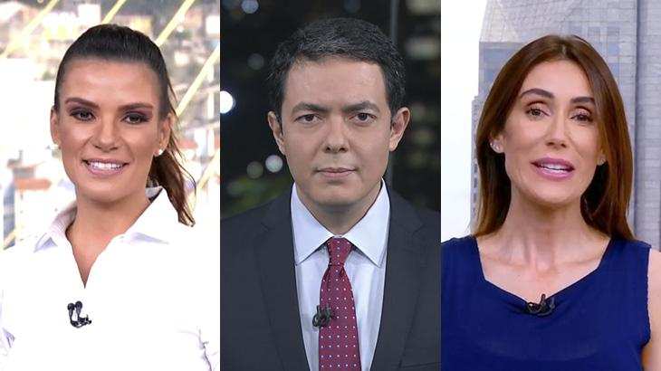 Sabina Simonato, Alan Severiano e Michelle Barros devem ganhar mais espaço na Globo - Foto: Montagem/Reprodução/TV Globo
