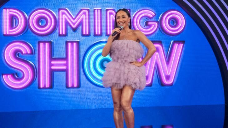 Sabrina Sato gravou o primeiro Domingo Show - Fotos: Marcus Godoy/Record TV