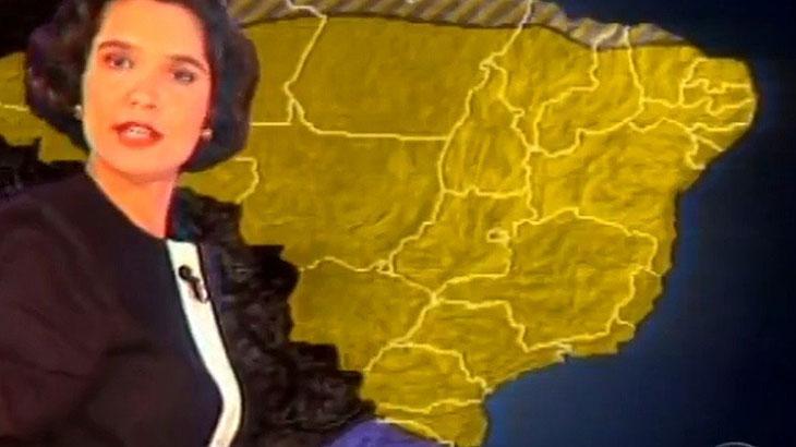 Sandra Annenberg estreou na Globo como Garota do Tempo no Jornal Nacional